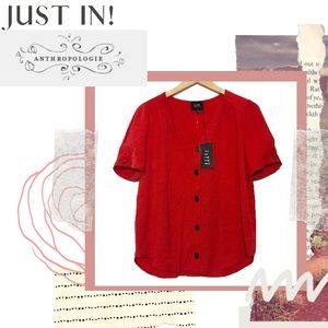 ANTHROPOLOGIE | W5 Red Top Size M
